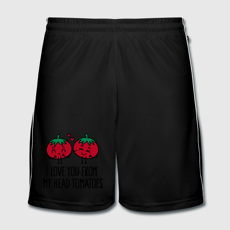 I love you from my head tomatoes Broeken en shorts - Mannen voetbal shorts
