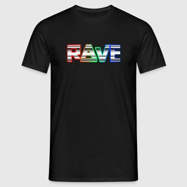 Rave Neon Rainbow Psy Text Techno Family Sportbekleidung - Männer T-Shirt