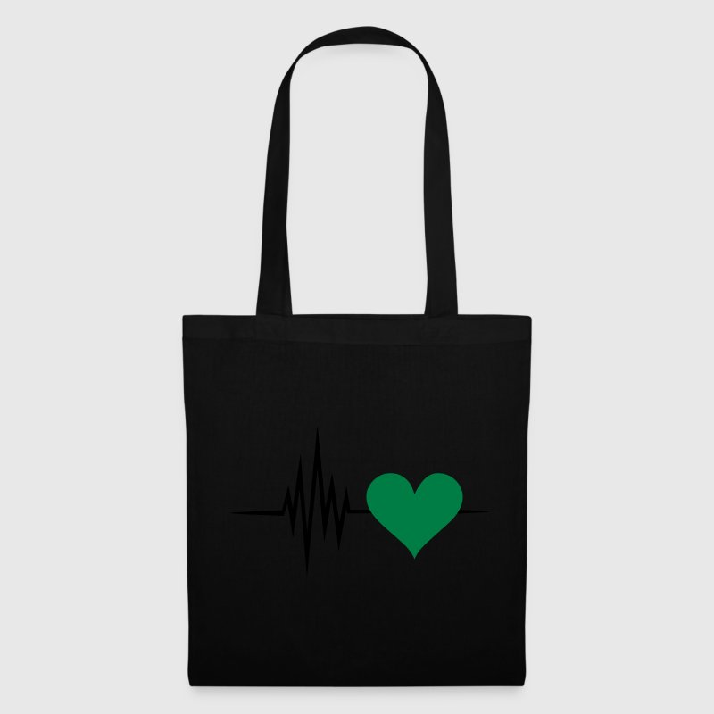 Pulse, frequency, heartbeat, vegan heart rate Bags & Backpacks - Tote Bag
