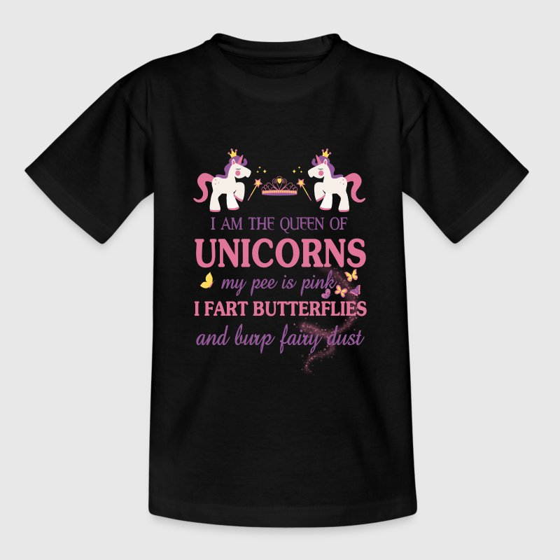 I am the Queen of the unicorns Shirts - Teenage T-shirt