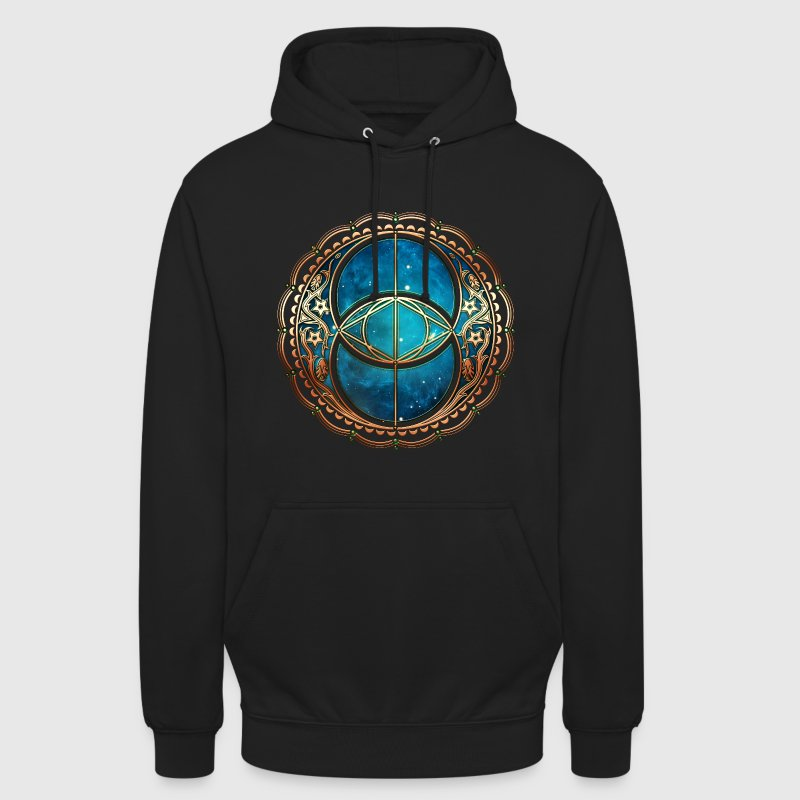 Vesica Piscis, Chalice Well, Avalon, Galaxy, Space Sweat-shirts - Sweat-shirt à capuche unisexe