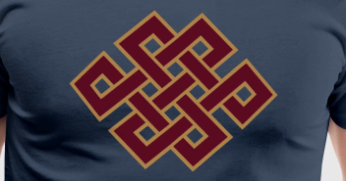 Buddhist endless knot, eternal, Tibet, celtic T-Shirt ...