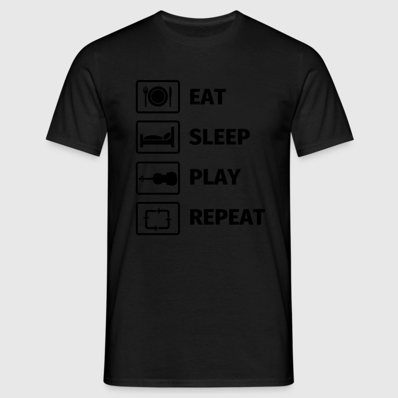EAT SLEEP VIOLIN REPEAT Camisetas - Camiseta hombre