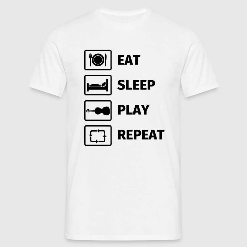EAT SLEEP VIOLIN REPEAT Tee shirts - T-shirt Homme