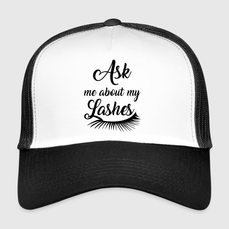 Ask me about my lashes Caps & Hats - Trucker Cap