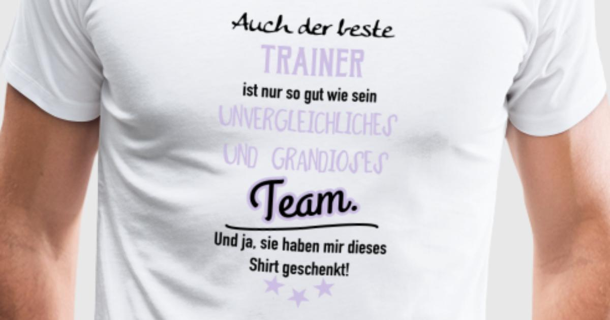 Bester trainer shirt t shirt spreadshirt for One color t shirt design inspiration