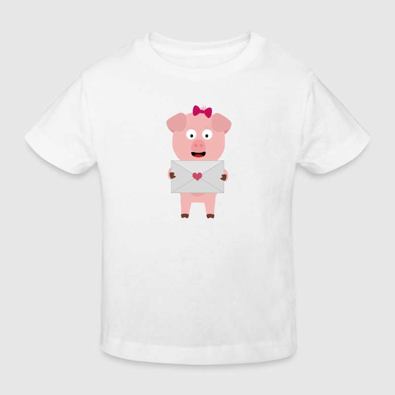 Female pig love letter Shirts - Kids' Organic T-shirt