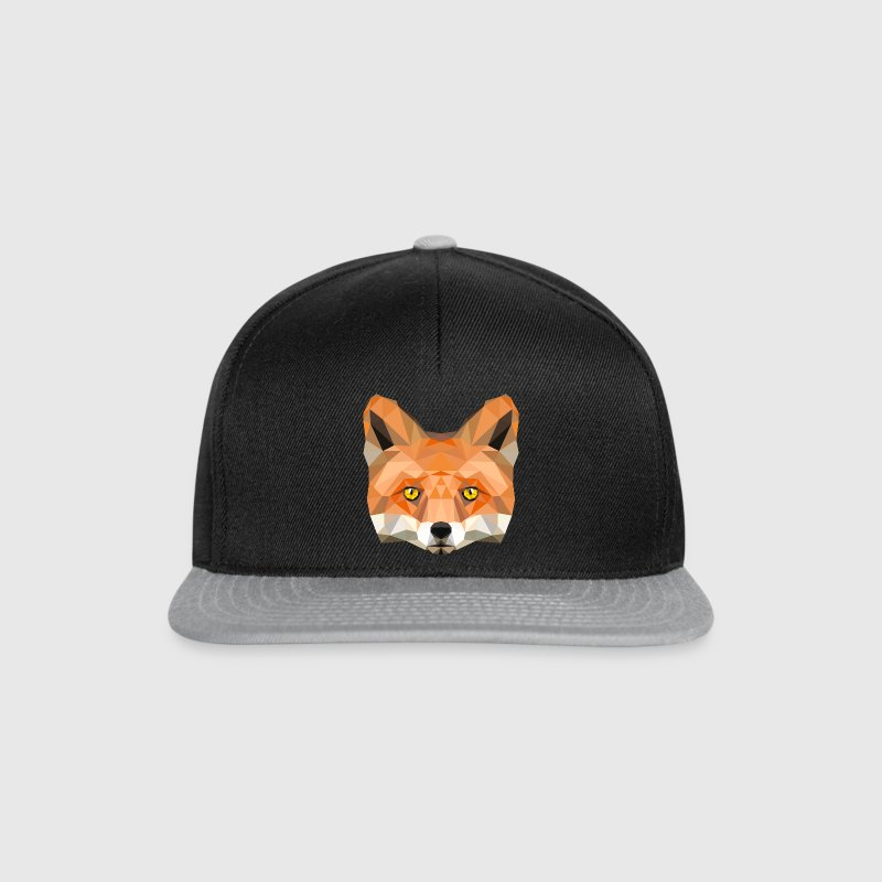 fox poly vixen fox illustration low poly head Caps & Hats - Snapback Cap