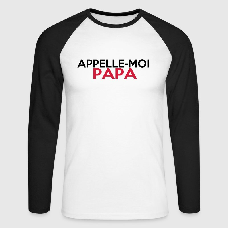 APPELLE-MOI PAPA Manches longues - T-shirt baseball manches longues Homme