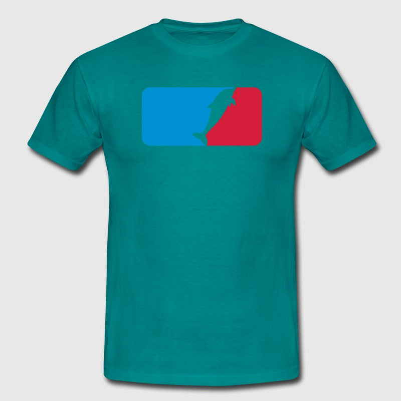 Cool logo symbol sport red blue swimming delfin cu T-Shirts - Men's T-Shirt