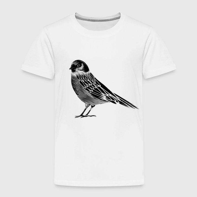 tee shirt un dessin en noir et blanc d 39 un oiseau spreadshirt. Black Bedroom Furniture Sets. Home Design Ideas