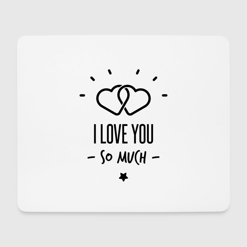 i love you so much Autres - Tapis de souris (format paysage)