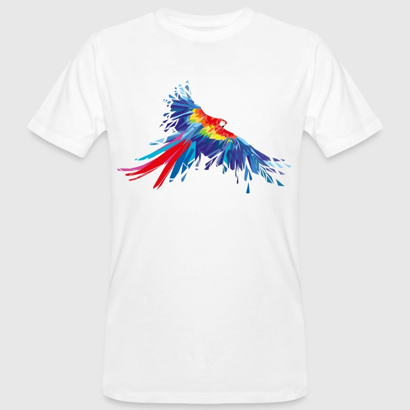 Parrot feathers Aras bird birds wing parrot bird T-Shirts - Men's Organic T-shirt