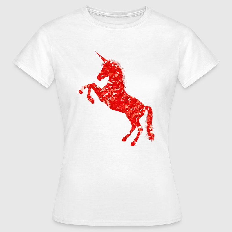 Geometric Unicorn Horse Design - Women's T-Shirt