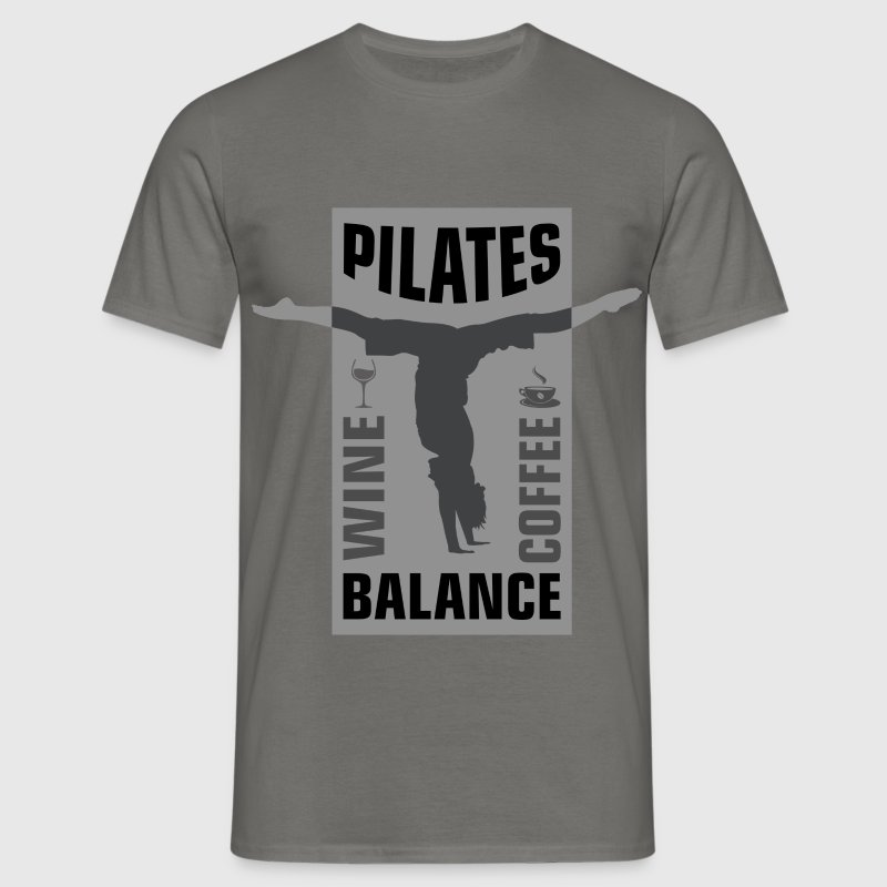 Pilates wine, coffee balance - Men's T-Shirt