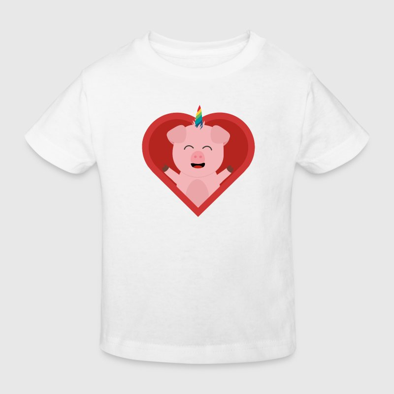 Unicorn-pig in the heart Shirts - Kids' Organic T-shirt