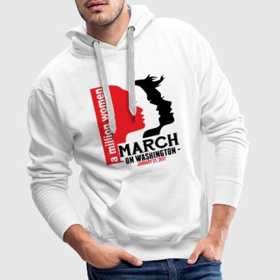 A Million Women March On Washington January 21, 2 T-Shirts - Men's Premium Hoodie