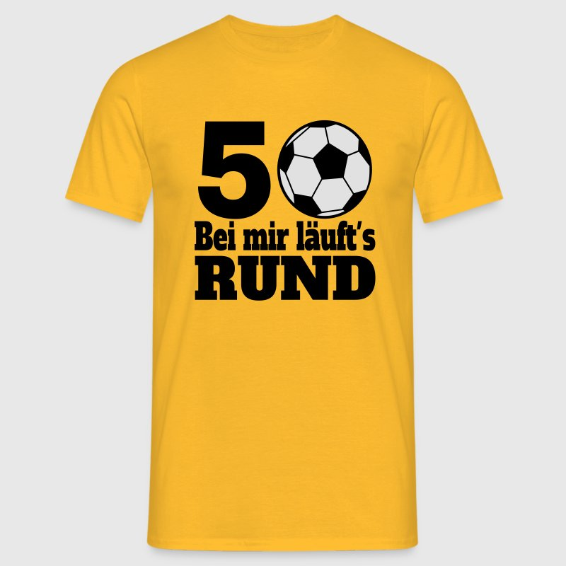 fussball 50 geburtstag t shirt spreadshirt. Black Bedroom Furniture Sets. Home Design Ideas