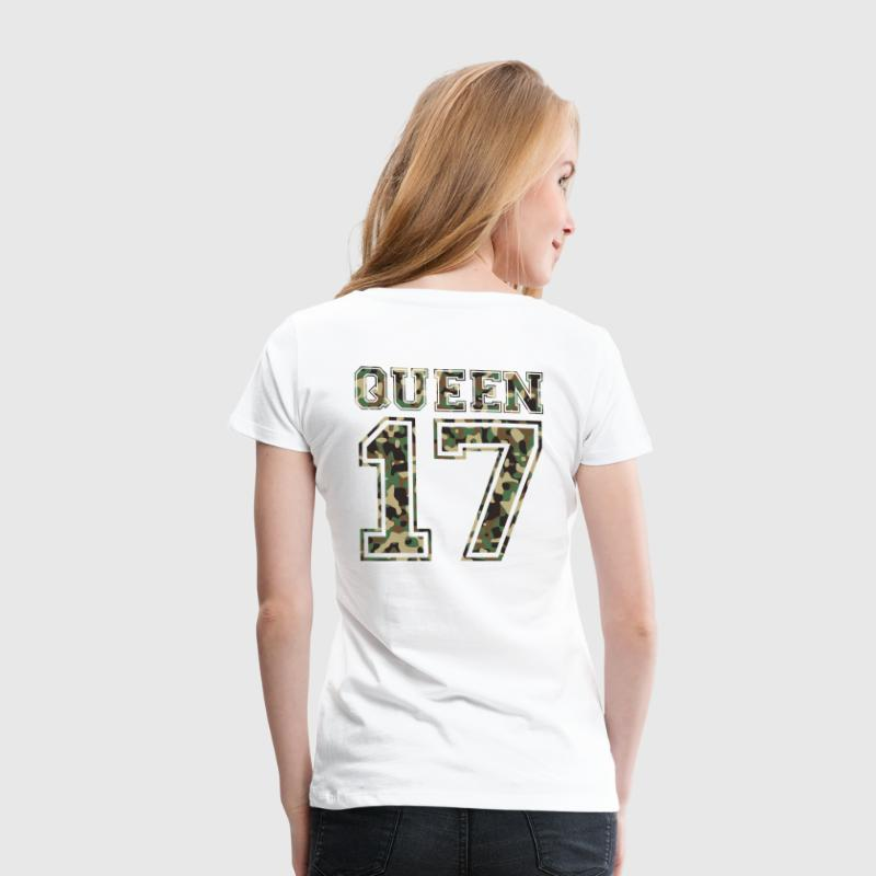 Queen Partnershirt Camo T-Shirts - Frauen Premium T-Shirt