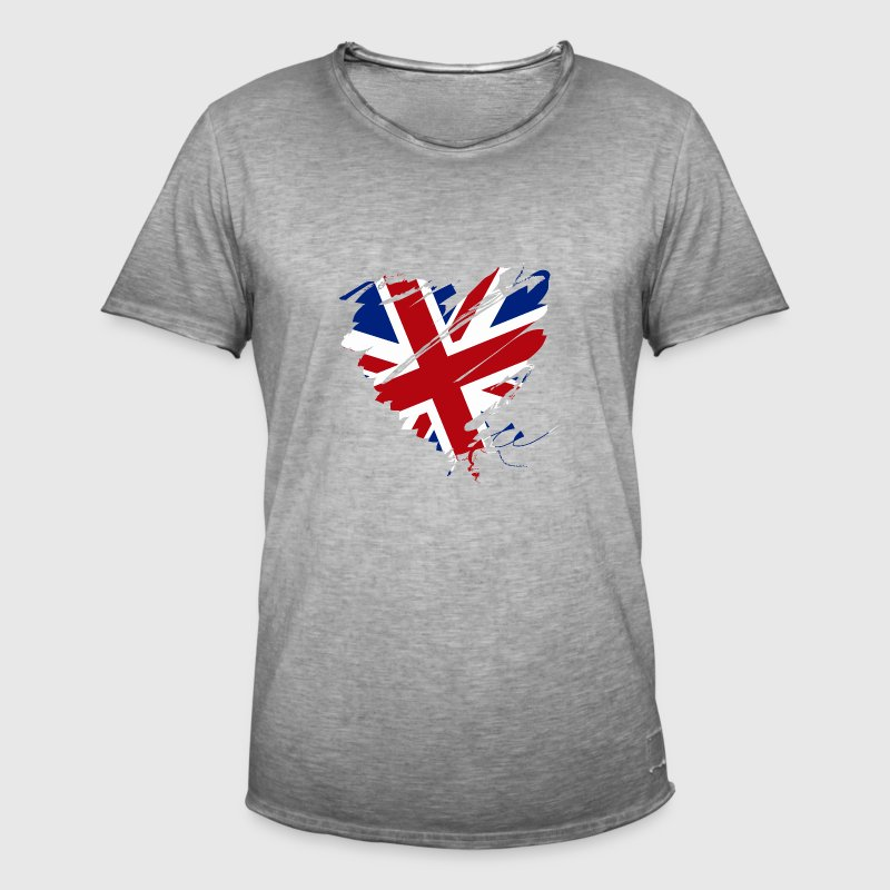 Herz Heart England Great Britain Fußball Football - Männer Vintage T-Shirt