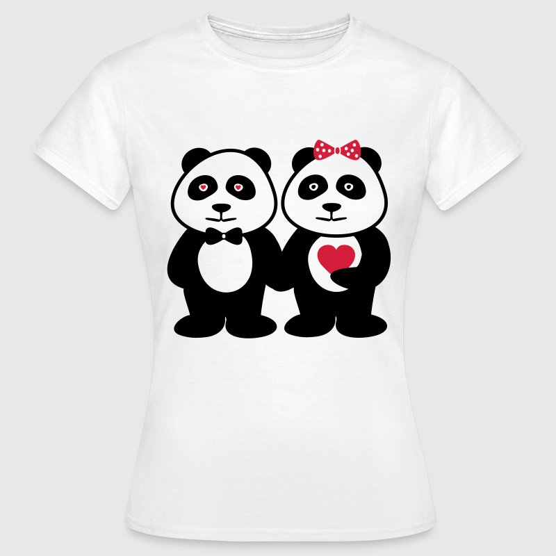 Panda in love , Couples - Women's T-Shirt