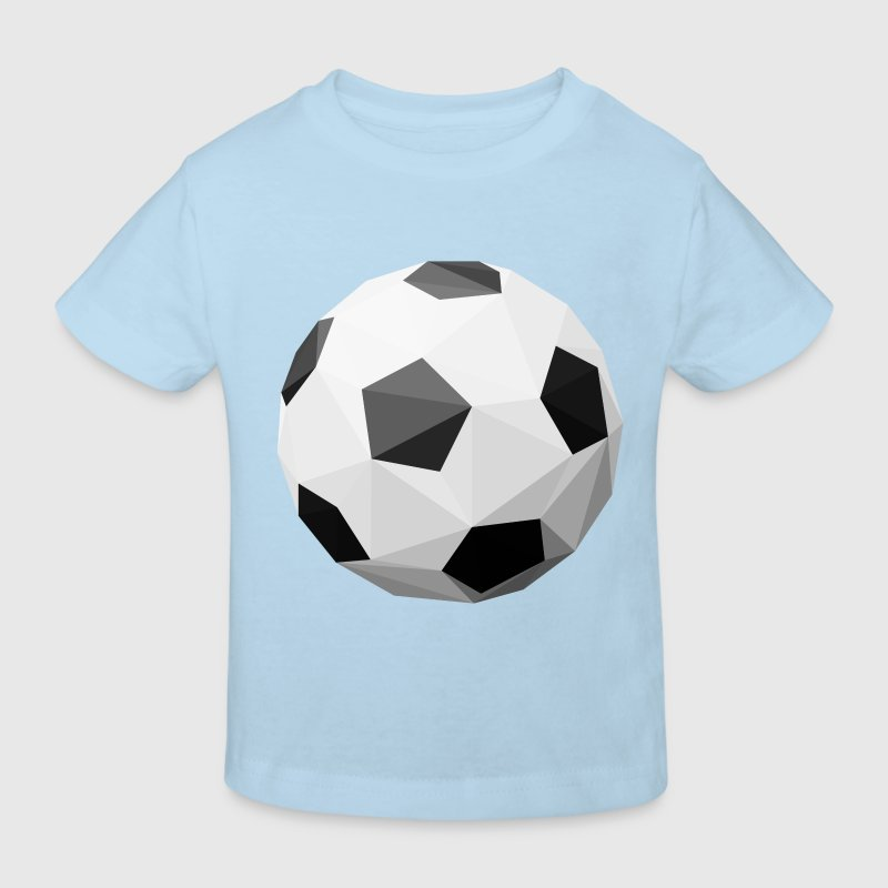 Football polygon Shirts - Kids' Organic T-shirt