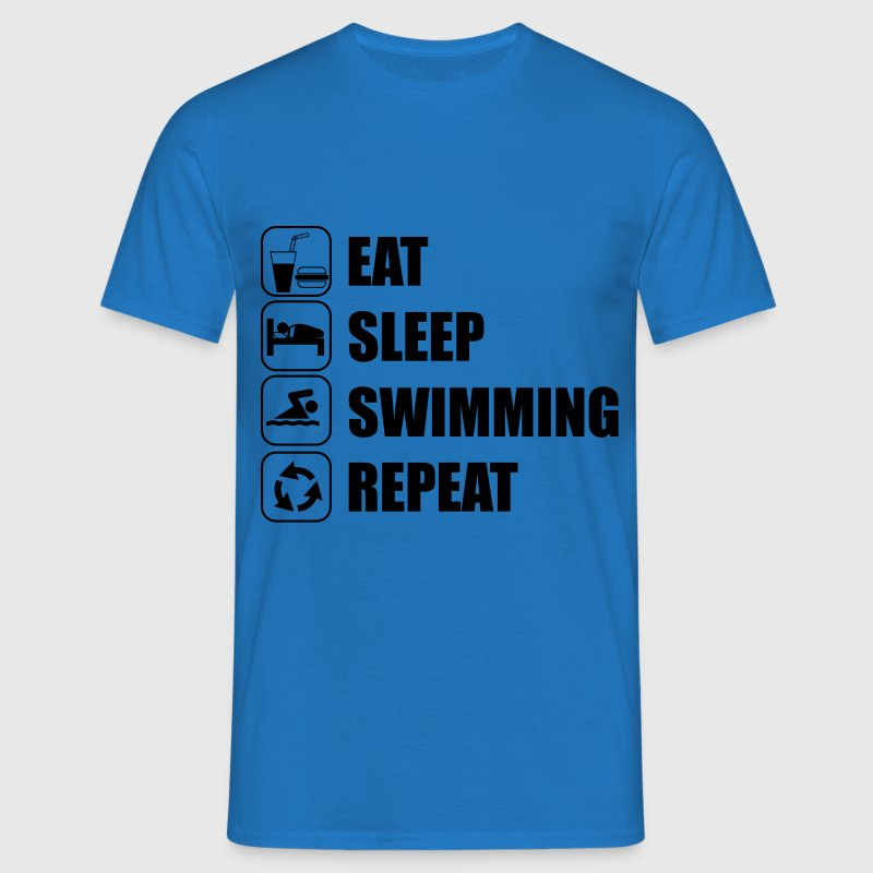Eat Sleep Swim, Eat Sleep Swimming - Men's T-Shirt