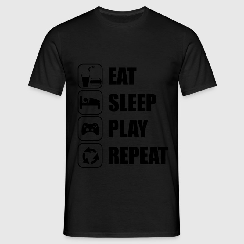Eat,sleep,play,repeat Gamer Gaming  - Herre-T-shirt