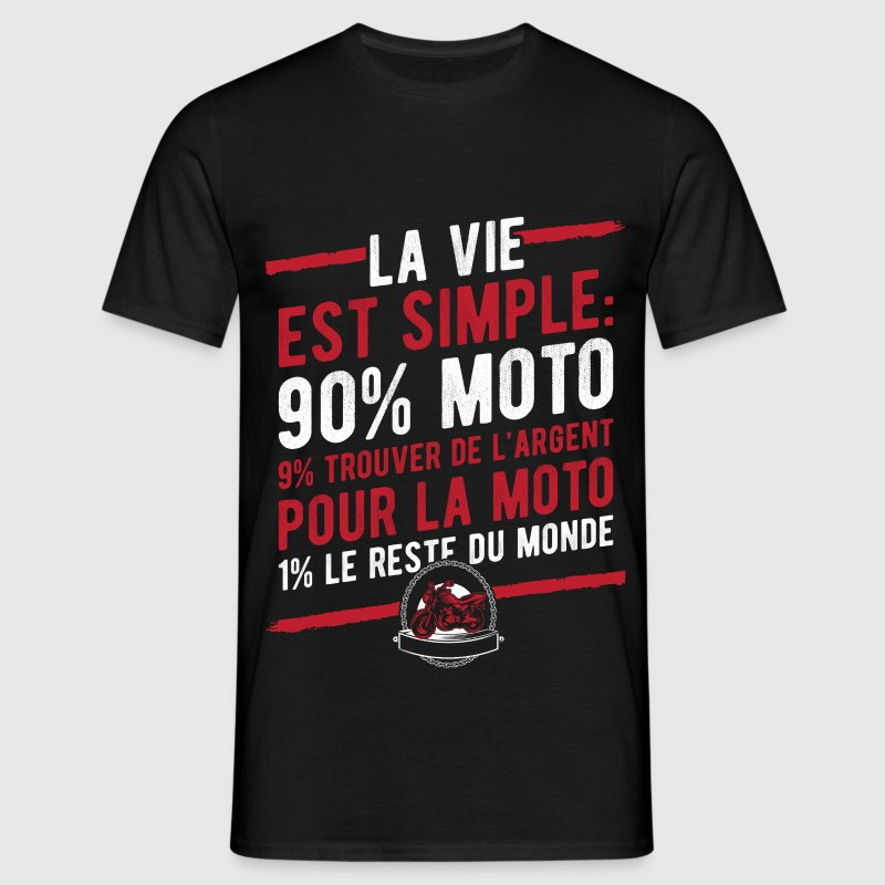 laviesimplemoto.png Tee shirts - T-shirt Homme