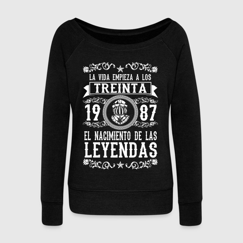 1987 - 30 años - Leyendas - 2017 Hoodies & Sweatshirts - Women's Boat Neck Long Sleeve Top