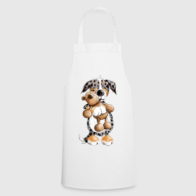 Australian Shepherd with Toy  Aprons - Cooking Apron