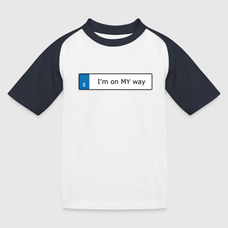 Im-on-my-way T-Shirts - Kinder Baseball T-Shirt