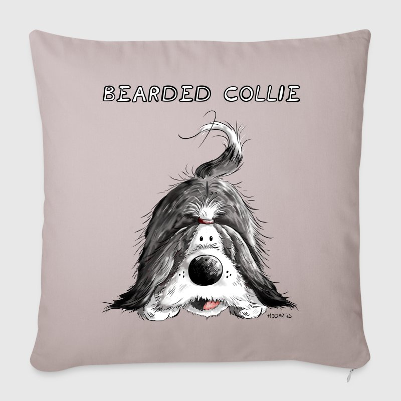 Playing Bearded Collie Other - Sofa pillow cover 44 x 44 cm