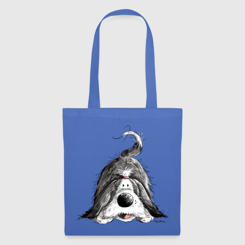 Funny Bearded Collie Bags & Backpacks - Tote Bag
