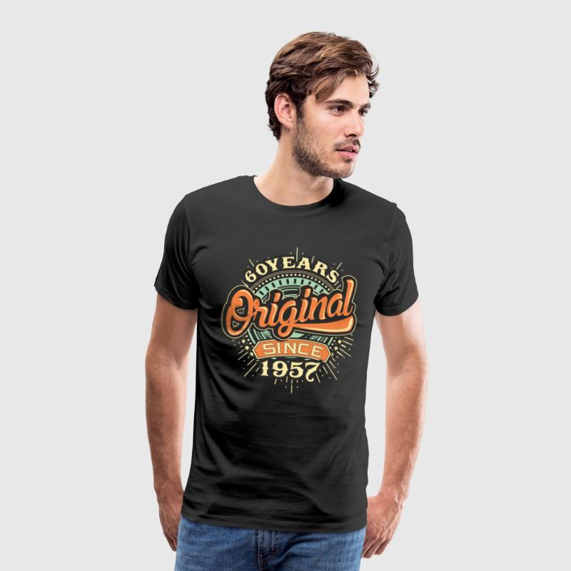 60 Years Original since 1957 - RAHMENLOS Birthday Shirt Design T-Shirts - Männer Premium T-Shirt