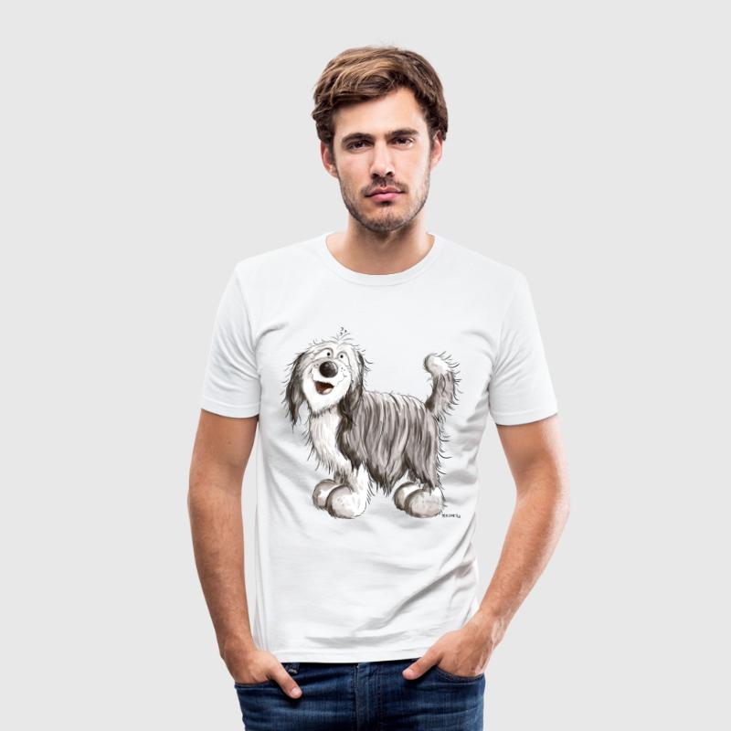 Knuffiger Bearded Collie T-Shirts - Männer Slim Fit T-Shirt