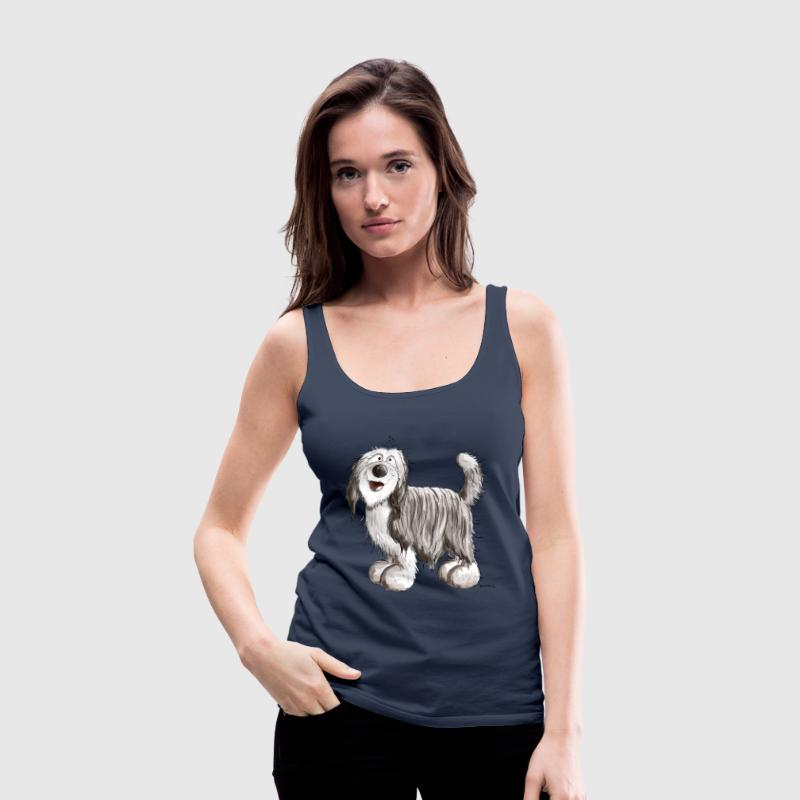 Cute Bearded Collie Tops - Women's Premium Tank Top