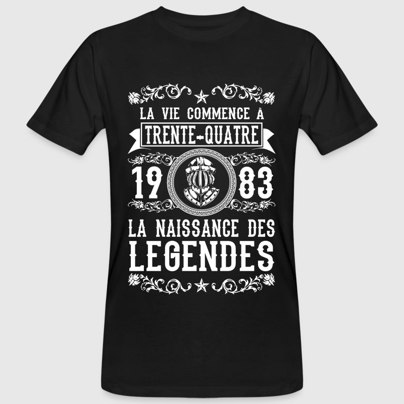 1983 - 34 ans - Légendes - 2017 Tee shirts - T-shirt bio Homme