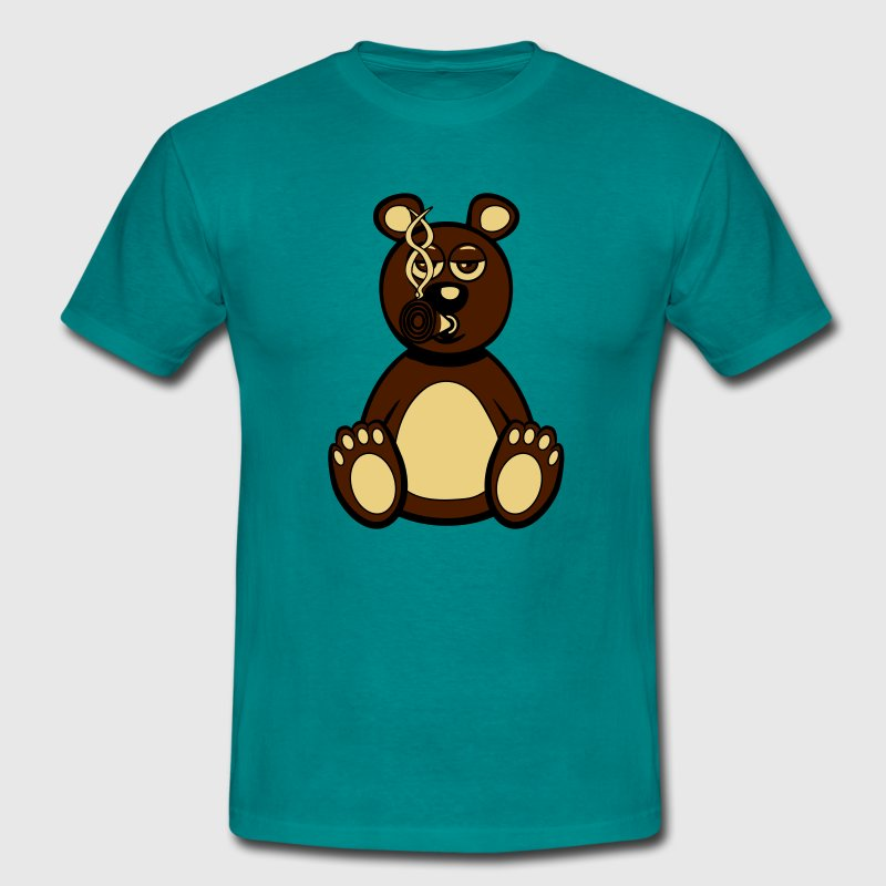 Kiffen joint stoned bear funny T-Shirts - Men's T-Shirt