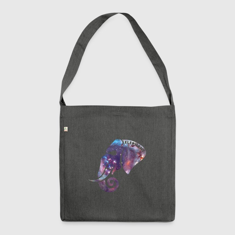 Galaxy Elephant Head Safari Silhouette  Bags & Backpacks - Shoulder Bag made from recycled material