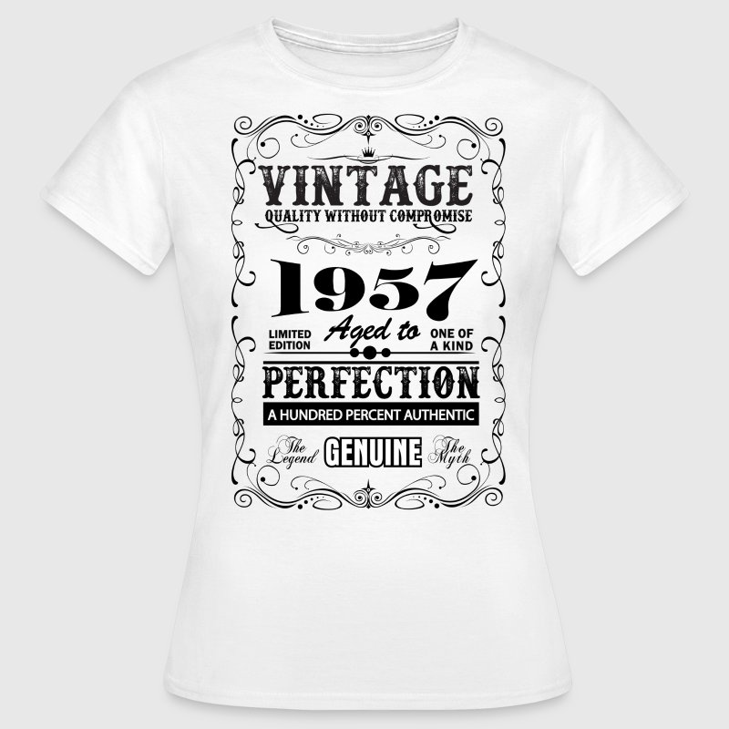 Premium Vintage 1957 Aged To Perfection T-Shirts - Women's T-Shirt