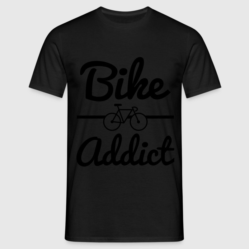 Bike addict, tee shirt humour,vélo,cyclisme  - T-shirt Homme