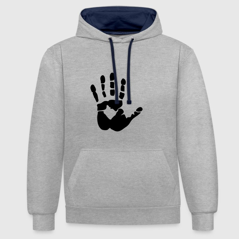 Handprint, high five Hoodies & Sweatshirts - Contrast Colour Hoodie