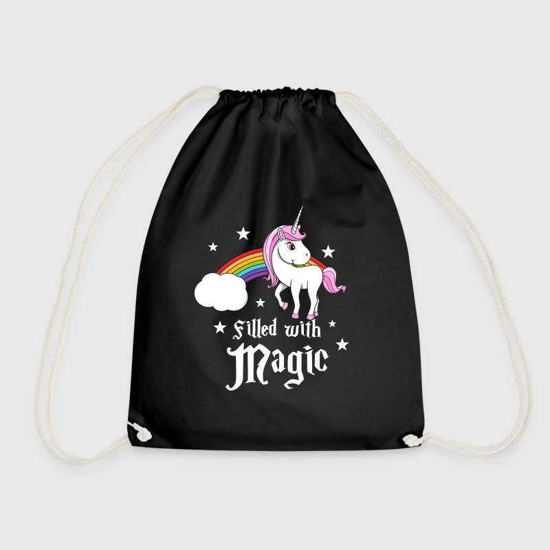 Unicorn - Filled with Magic Bags & Backpacks - Drawstring Bag