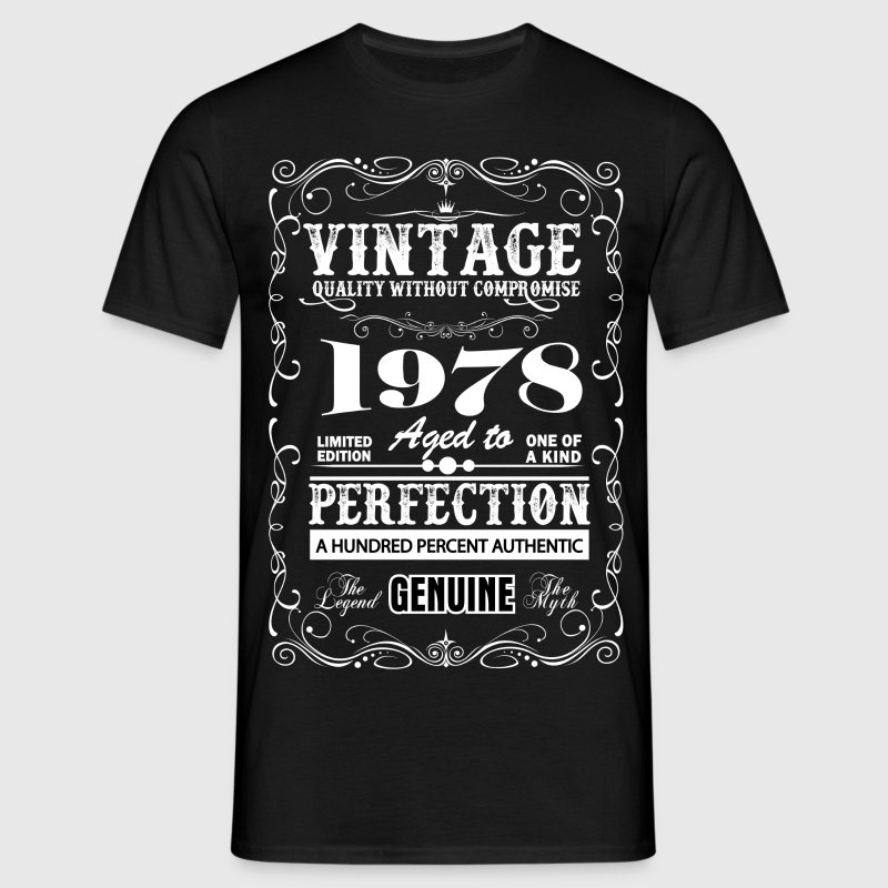 Premium Vintage 1978 Aged To Perfection T-Shirts - Men's T-Shirt