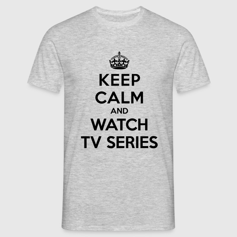 Keep calm and watch tv series Tee shirts - T-shirt Homme