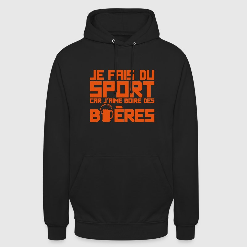 aime boire biere citation sport alcool Sweat-shirts - Sweat-shirt à capuche unisexe