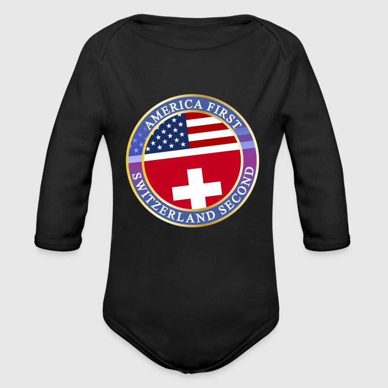 AMERICA FIRST SWITZERLAND SECOND Baby Bodys - Baby Bio-Langarm-Body