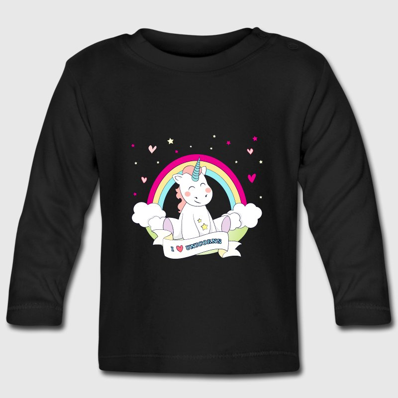 Cute Unicorn Camisetas de manga larga bebé - Camiseta manga larga bebé