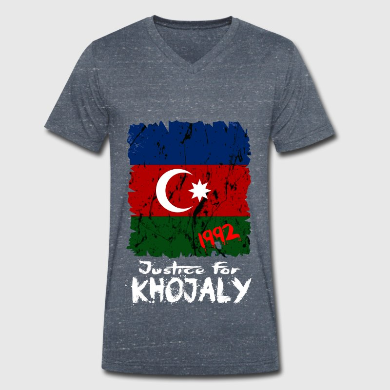 Justice for Khojaly T-Shirts - Men's Organic V-Neck T-Shirt by Stanley & Stella